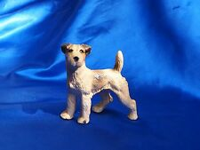 HUBLEY Iron Wire Fox Terrier dog Rascal dog Big Paperweight! rare coloring