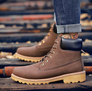 Men Women Leather Ankle Boots Outdoor Winter Snow Boot Unisex Waterproof Shoes