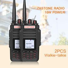 2x ZASTONE ZT-A19 Walkie Talkie 10W VHF UHF Dual Band Long Range 2 Way Ham Radio