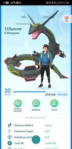 Pokémon Go account shiny rayquaza shiny heatran zekrom cobalion giratina kyogre
