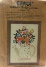 Caron Hallmark Design Crewel Kit Watering Can Floral 6417 Unopened 1977 Vintage