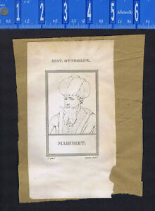 Queen Catherine de Medici & Mehmed the Conqueror -1809 Portrait Prints