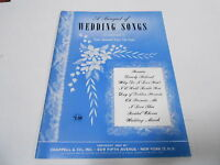 1950 (NOS) BOUQUET OF WEDDING SONGS vintage music song book