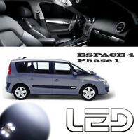 Renault ESPACE 4 PH1 IV 11 Ampoules LED Blanc Plafonnier éclairage Sols tapis