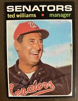 Hall of Famer Ted Williams, 1971 Topps #380 High-Grade! (Ex+/NM), Gorgeous Card!