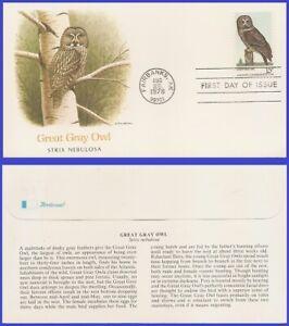 USA3 #1760 U/A FLEETWOOD FDC   Great Gray Owl