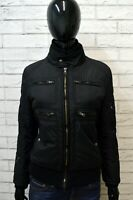 FAY Donna Giubbotto Nero Piumino Taglia Size M Giacca Jacket Woman Black Italy
