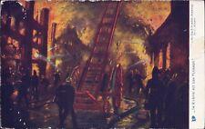 Feuerwehr Brand Amato Oilette Königin von England - Sehr alte Künstler-AK Y-8613