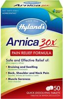 Hyland's Arnica 30X Pain Relief Formula Quick Dissolving Tablets 50 ea (2 pack)