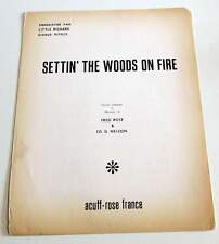 Partition vintage sheet music LITTLE RICHARD : Settin' The Woods on Fire * 50's