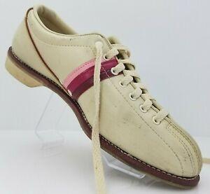 Sliders Bowling Shoes by Endicott Johnson Pink Strips Sz 10
