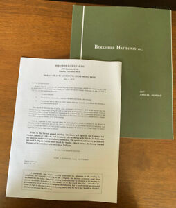2017 Berkshire Hathaway Annual Report - Warren Buffett Charlie Munger Investing