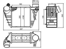 Intercooler, charger NRF 30847
