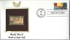 World War II Battle of Leyte Gulf FDC 22kt Gold Replica Stamp #134