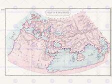 MAPPA ORBIS ptolemaei VINTAGE 12 x 16 pollici art print poster foto hp2208