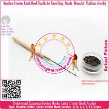 1.35mm Latch Crochet Hook Micro Needle Nano Ring Beads Bracelet Necklace Jewelry