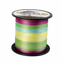 Hercules 10-300lb Resistant 4/8 Strand Multicolor Braided Fishing Line 300-1000m