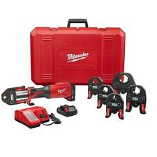 Milwaukee 2922 22 M18 Force Logic Press Tool With One Key With 12in 2in Cts Jaws