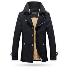 Winter Mens Fur Lining Jacket Long Business Jacket Coats Outwear Trench Overcoat