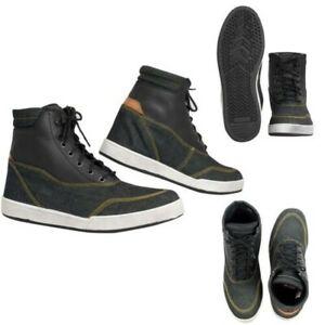 Botas Zapatos Homologado Ce Moto Motociclismo Protección Carretera Sneaker Negro