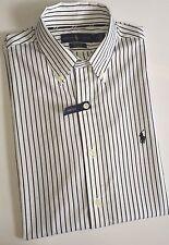 Ralph Lauren White Mens USA Size Large L Striped Button Down Shirt #028