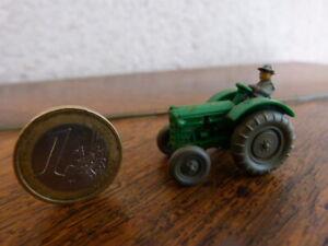 beau jouet miniature 1/87 Wiking tracteur 50 Ans Vert Rare