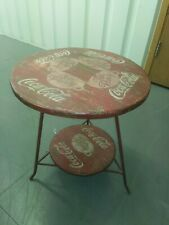More details for coca cola, table, reproduction, antique design, coffee table, red and white
