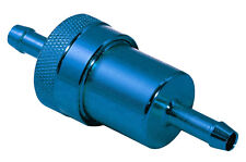 Motorcycle Fuel Filter - Blue -  Inline to fit 6mm fuel pipe