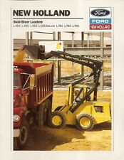 Equipment Brochure - New Holland - L-454 et al  Skid Steer Loader - 1991 (E1338)
