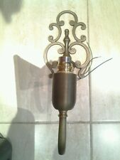 Antique Brass Finish Wall Light Complete with Shade Brand New