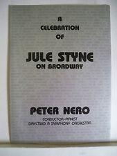 JULE STYNE Playbill PETER NERO / CY COLEMAN / MARVIN HAMLISCH / BURTON LANE 1988