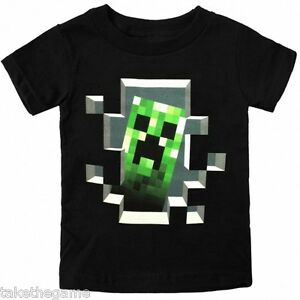 Official Licensed MINECRAFT CREEPER INSIDE KIDS T-SHIRTS - BNIP - SIZE CHOICE