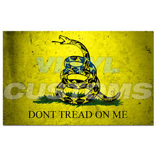"Dont Tread On Me Vinyl Decal Sticker Molon Labe Come and take them - 8"" in."