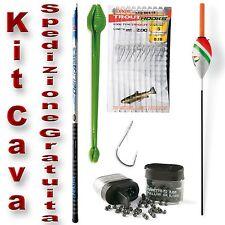 Kit cava fissa combo pesca trota lago fiume completo PB2263