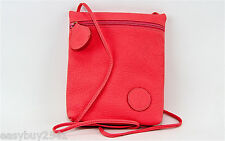 CARLOS FALCHI BUBBLE GUM 100% LEATHER SHOULDER BAG SIDE POUCH NEW $295.00