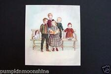 # I 584- RARE Unused Tasha Tudor Xmas Greeting Card Children Singing Carols