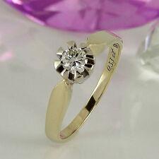 Ringe mit Diamanten und VVS2 Reinheit im Solitär-Stil aus mehrfarbigem Gold