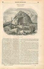 Serra dos Orgaos Rio de Janeiro Cordillère Brésil GRAVURE ANTIQUE OLD PRINT 1854
