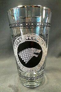 Game of Thrones - House Stark Winter Tumblers (2) 24oz Glasses.