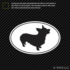 Pembroke Welsh Corgi Euro Oval Sticker Die Cut Decal Vinyl dog canine pet