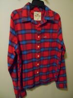 Pre-owned Hollister by Abercrombie Men's Long Sleeve Flannel Shirt Size XL