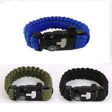 5 dans 1 multifonction Bracelet de survie Allume-feu silex COMPAS poignet boucle