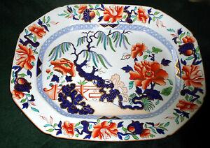"Scarce C. 1815 Large 17"" Hicks & Meigh Stone China No.7 Japan Pattern"