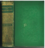 Sketches By Boz & Tale Of Two Cities by Charles Dickens 1885 Rare Book