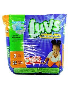 LUVS DIAPER SIZE 3 24 ct Culeros Desechables Para Bebes Talla 3