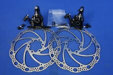 New Tektro Md-C550 Mechanical Disc Brake Calipers, Flat Mount, Rotors, Trp Spyre