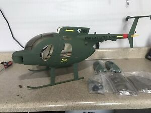 MD500 RC Helicopter R/C Scale Heli W/mechanics Tow Defender Md-500 ARF