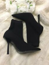 ZARA STRETCH HIGH HEEL BLACK ANKLE BOOTS - MUM-WOMAN-CORNER EUR 40 UK7