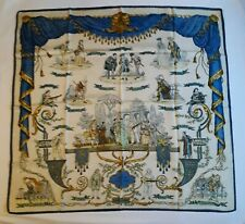 COLLECTOR HERMES foulard La Comedie Italienne - Philippe Ledoux 1962 rare scarf