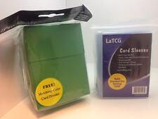 60 Large Standard LaTCG Deck Protector Pokemon/MTG Sleeves + Pro-Safe Deck Box
